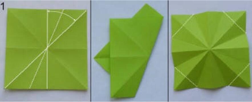 圣诞树纸折法
