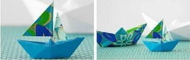 记忆中小船的折法