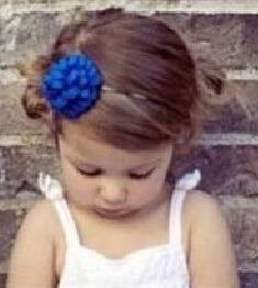 女孩蓝色妖姬发箍