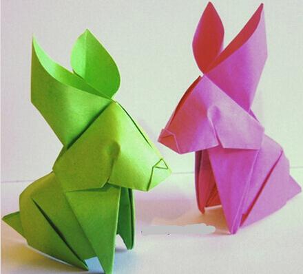 手工折纸制作兔子图文教程详解