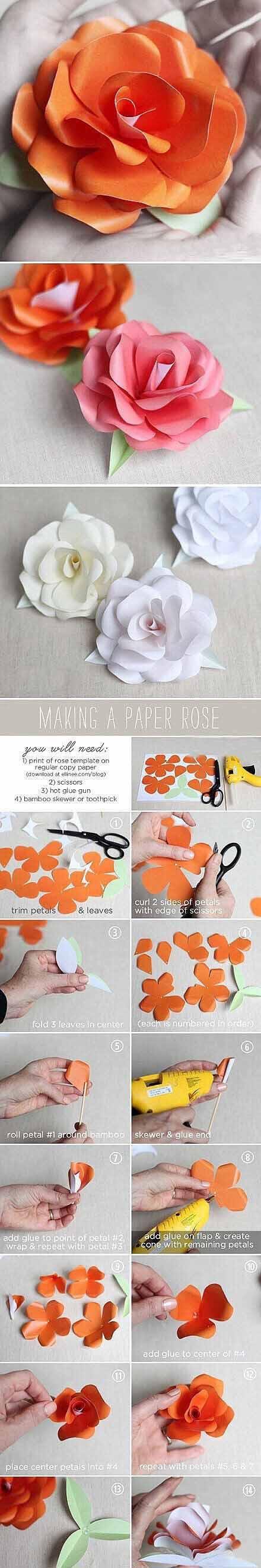 各种材质、各式各样 的13款手工花朵 制作步骤,总有你喜欢的类型!