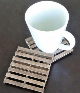 雪糕棍做的古朴杯垫