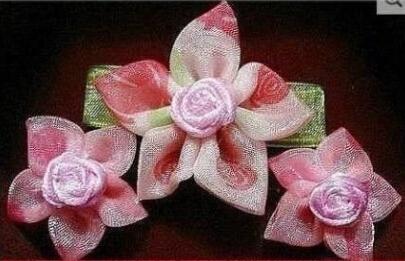 樱花的详细布艺缝法