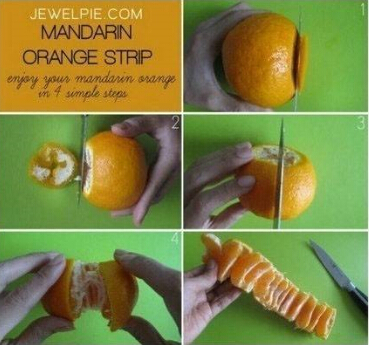 你会剥橘子吗?