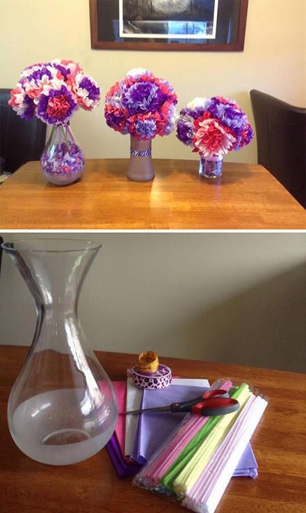 如何利用彩纸剪成一大朵花
