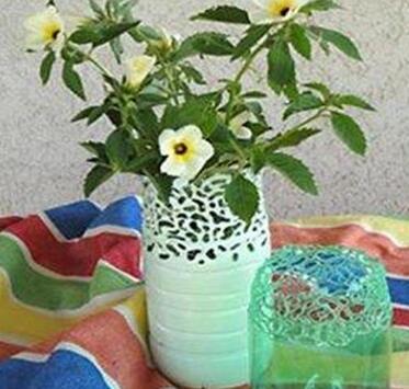 镂空塑料花瓶的制作