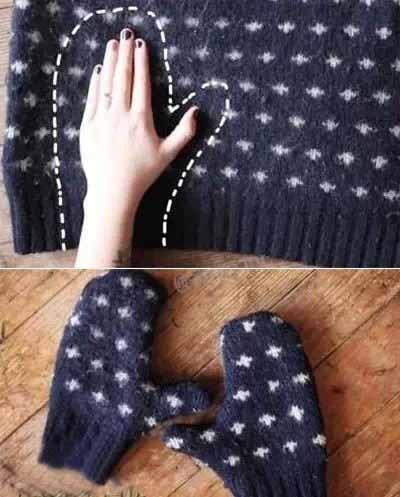 不穿的毛衣、棉袜能改成手套、家居鞋、灯罩、暖水杯套、抱枕你能想到吗?